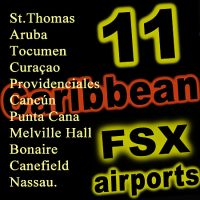 FSX 11 Airport Caribbean bundle Pack