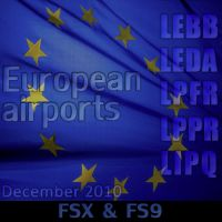 TROPICALSIM - 5 European airport bundle pack