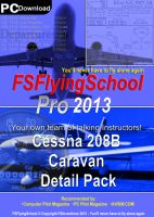 FSINVENTIONS - FSFlyingSchool pro 2013 Cessna Caravan & 208