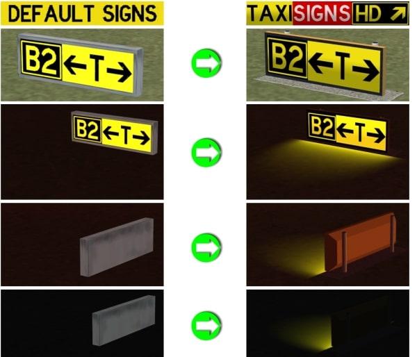 FLIGHTSIM TOOLS - Taxisigns HD