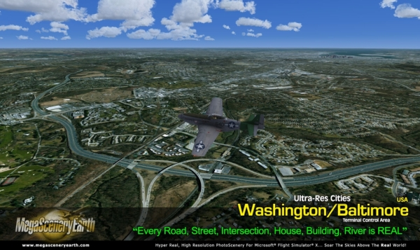 PC AVIATOR - Megascenery Earth - Ultra-Res Cities - Baltimore/Washington