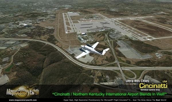 PC AVIATOR - Megascenery Earth - Ultra-Res Cities - Cincinnati