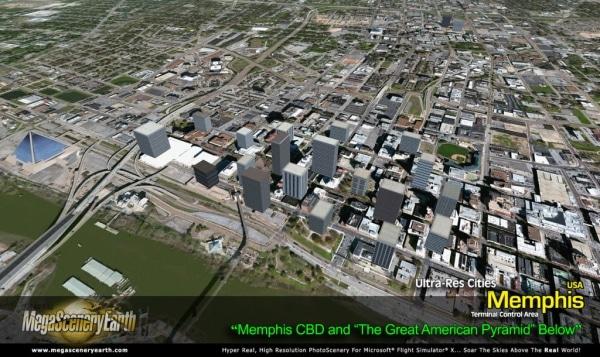 PC AVIATOR - Megascenery Earth - Ultra-Res Cities - Memphis