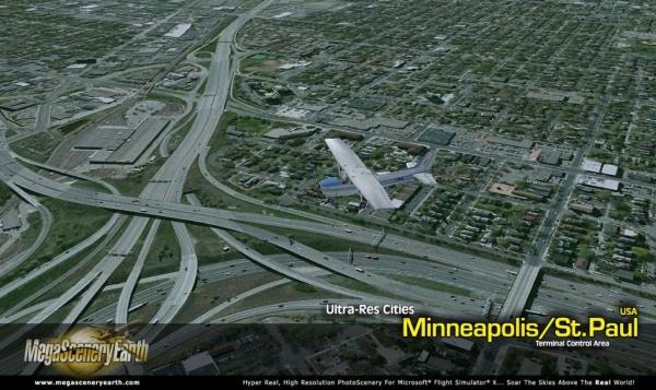 PC AVIATOR - Megascenery Earth - Ultra-Res Cities - Minneapolis/St Paul