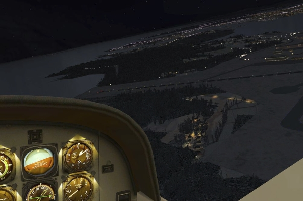TABURET - Fsx night 3D Norvegia