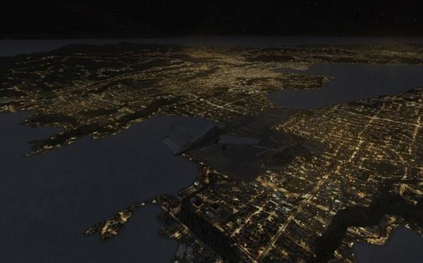 TABURET - Fsx night 3D Oceania