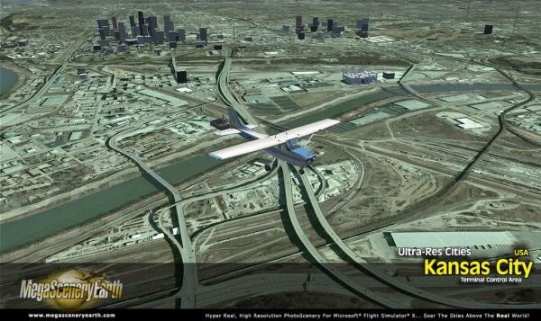 PC AVIATOR - Megascenery Earth - Ultra-Res Cities - Kansas City