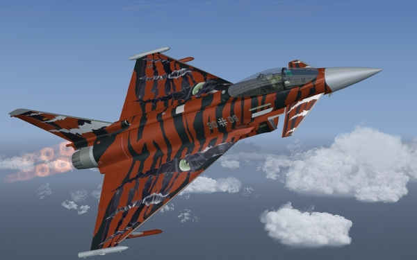 AFS-DESIGN - Eurofighter Typhoon professional 4 Special Paint kit FS2004