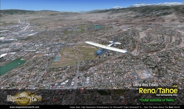 PC AVIATOR - Megascenery Earth - Ultra-Res Cities - Reno/Tahoe