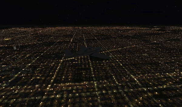 TABURET - Fsx night 3D Michigan Illinois e Missouri