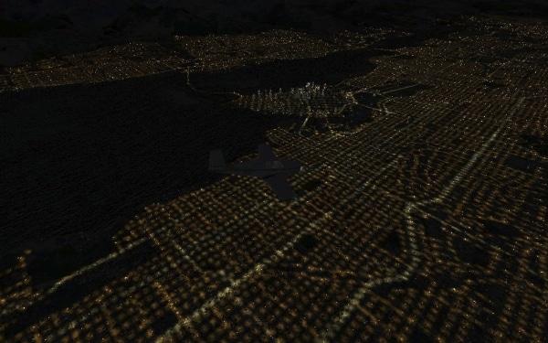 TABURET - Fsx night 3D British Columbia ed Alberta