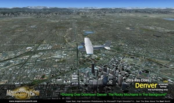 PC AVIATOR - Megascenery Earth - Ultra-Res Cities - Denver e Colorado Springs