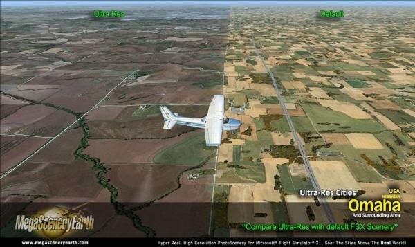 PC AVIATOR - Megascenery Earth - Ultra-Res Cities - Omaha