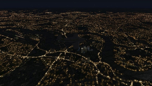 TABURET - Fsx night 3D  British Isles
