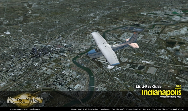 PC AVIATOR - Megascenery Earth - Ultra-Res Cities - Indianapolis
