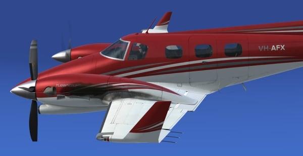 REALAIR - Beechcraft Duke V2 Prepard3d version