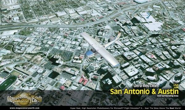 PC AVIATOR - Megascenery Earth - Ultra-Res Cities - San Antonio e Austin