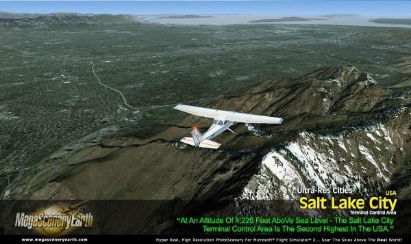 PC AVIATOR - Megascenery Earth - Ultra-Res Cities - Salt Lake City