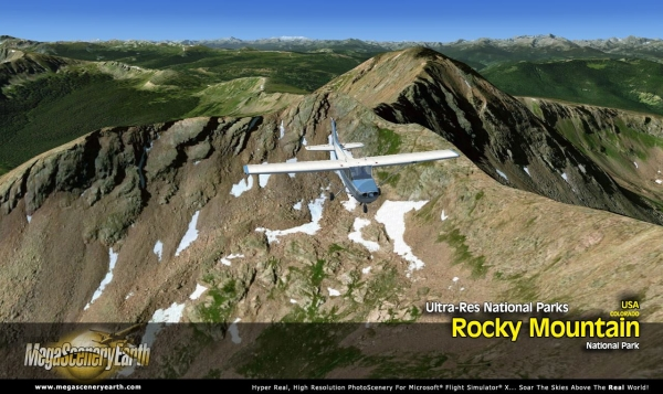 PC AVIATOR - Megascenery Earth - Ultra-Res National Park - Rocky Mountain National Park