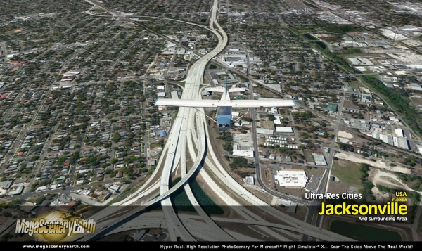 PC AVIATOR - Megascenery Earth - Ultra-Res Cities - Jacksonville
