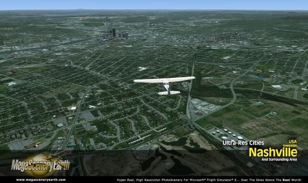 PC AVIATOR - Megascenery Earth - Ultra-Res Cities - Nashville